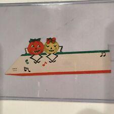 Vintage Halloween Cardstock Name Card Placecard Dancing Jack Lantern Gibson B