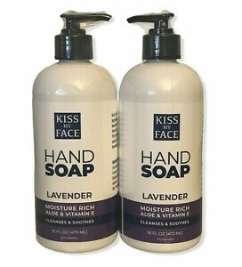 Kiss My Face Lavender Moisture Cleanse Hand Soap Aloe Vitamin E 16 Oz Lot Of 2