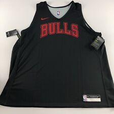 Nike NBA Chicago Bulls Player Issue Training Jersey Vest Reversible 2XL XXL