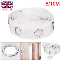 Perfect 10M Eyelet Curtain Tape 80Ring Accessories Sewing Silver Curtain Blinds