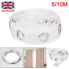Hot 10M Eyelet Curtain Tape 80 Rings Accessories Sewing Silver Curtains Blinds