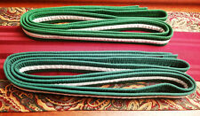 Lot of 2 ProForce White Stripe Green Rank Martial Arts Belts Size 7 Karate