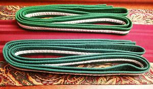 ProForce Thunder White Stripe Green Rank Martial Arts Belt Size 7 Karate Kempo