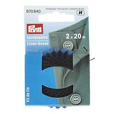 Prym Linen thread, black, 20m.BARGAIN.