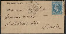 Ballon monté Gazette des Absents n°33, PARIS LA GARE D'IVRY pour Albertville