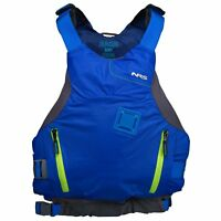 NRS Ion PFD Coast Guard Certified Floating Adult Life Jacket Vest, Blue, XL/XXL