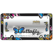 New Butterfly with Fastener License Plate Frame Universal Fit Car- Single Frame