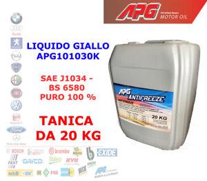 LIQUIDO ANTIGELO ANTIFREEZE RADIATORE GIALLO PURO CONCENTRATO TANICA DA 20 KG LT