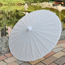 "white paper parasol / umbrella with ribbon adult size 33"" wedding favor"