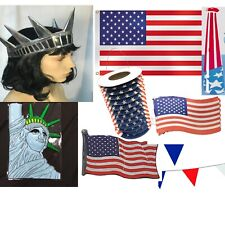 More details for usa american independence day party pack flag bunting lanterns plaque crowns