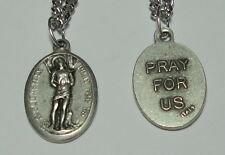 """St Sebastian Holy Medal & 24"""" Chain Athletes Soldiers Police Gardeners Hardware!"""