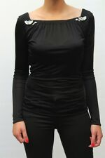T-SHIRT CLASS ROBERTO CAVALLI DONNA WOMAN, 08A CD 372 NERO MIS.44 AA 09 !