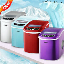 220V Portable Commercial Ice Maker Stainless Steel Restaurant Ice Cube Machine