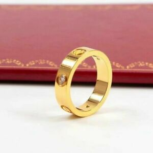 Premium Stainless Steel Ring Love Forever Ring - 4mm - Gold/Silver/Rose