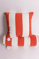 "NWT Pottery Barn PB Classic Stripe outdoor 18"" pillow & bolster papaya orange"