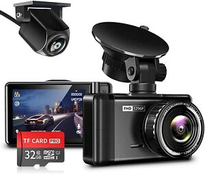 JOMISE Dash Cam for Cars Front and Rear 1296P & 1080P FHD Dual Dash Camera with