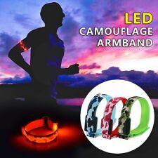 Night Safety Warning Running LED Arm Band Glowing Wristband Flash Light Bracelet