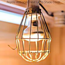 Heat Shade Cover Reptile Vivarium basking Lamp Bulb Safety Mesh Guard cage