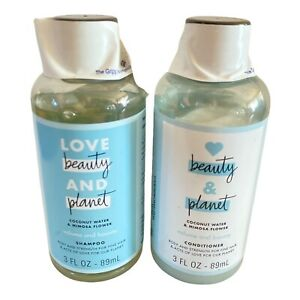 Love Beauty & Planet Shampoo & Conditioner Coconut Water & Mimosa Flower 3oz NEW