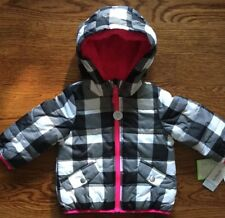 NWT CARTER'S Girls Infants Hooded  Puffer Coat Jacket Size 12 Months MSRP $56.00