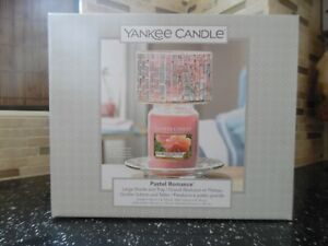 Yankee Candle Large Shade & Tray (Pastel Romance) Boxed Set
