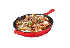 New listing Bruntmor Enameled Cast Iron Skillet Deep Saute Pan Frying Pan 12 inch Fire Red