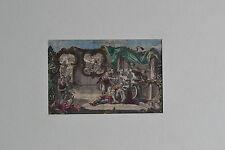 Kupferstich, handkoloriert, Samson und Delilah, verm. Anfang 1800