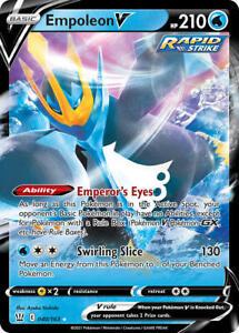 Empoleon V 040/163 SWSH Battle Styles Holo Ultra Rare Pokemon Card MINT