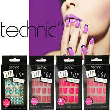Technic Tip Top 24 Nail Tips with Glue Fashion Bright Colour Fingers Fake Nails