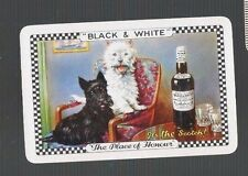 Swap Playing Cards 1 VINT   GENUINE BLACK & WHITE WHISKY ADVT SCOTTY DOGS D29