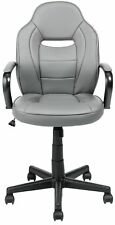 HOME Mid Back Adjustable Height Tilt Swivel Gaming Chair - Grey