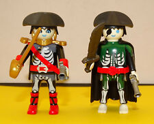 PLAYMOBIL PIRATES 2 PERSONNAGES PIRATES FANTOMES ZOMBIS EQUIPES ACCESSOIRES