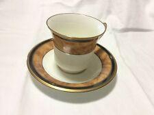 Noritake Japan Bone China Cabot Footed Coffee Tea Mug Cup and Saucer Set 9785