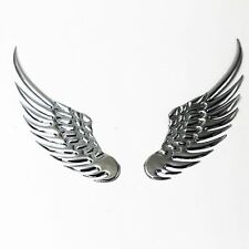 Universal Car Rear Trunk Emblem Metal Angel Wings Hawk Sticker Badge SV 1 Pair