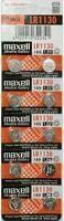 MAXELL LR1130 (10 Batteries) AG10 189 L1131 389 V10GA 1.5 V BATTERY FRESH