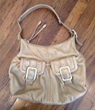 Cole Haan Lame Handbag Pebbled Leather Hobo Pockets Gold Shoulder Carry