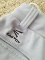 Easton Athletic Youth Medium Elastic Baseball/Softball Pants w loops Grey Used