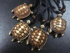 12 pcs Turtle Tribal Turquoise Bone Powder Necklace Mens PUNK Lucky Necklace