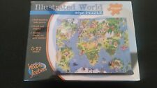 Illustrated World Self Standing Puzzle -Complete, NEW- 80 pieces Heebie Jeebies