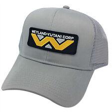 ALIEN Movie Weyland Yutani Corp Sci Fi Patch Mesh Back Gray Cap Hat - AB014AE