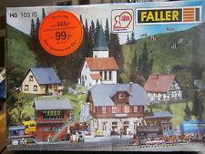 Faller H0 103 IS 5 Bausätze Bahnhof, Stellwerk, Kirche und mehr NEU in Folie
