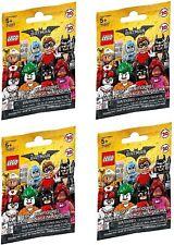 LEGO 71017 BATMAN MOVIE BAG MINIFIGURES - Lot Of 4 Packs  NEW SEALED