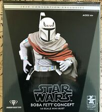 Star Wars Gentle Giant Boba Fett Concept Mini Bust 441/500 New SDCC Exclusive