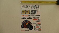 17 versch. Aufkleber auf einem Bogen KTM Racing MotoGP Binder , Oliveira