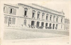 H71/ Foreign Postcard Teotihuacan Mexico RPPC c1910 Railroad Depot 105