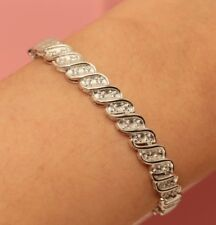 Rubyshire 14K White Gold Finish Tennis Bracelet For Woman 1.5CT Very Simple