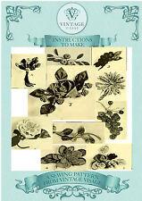 Vintage 1920 patrón de costura Tela Decorativa Flores, Frutas, Corsages, Ebook Cd
