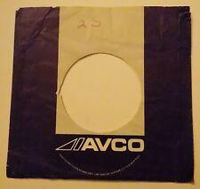 "AVCO RECORDS 7"" 45 RPM Original Record Company Sleeve ~ USED ~"