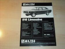 27464) Mazda 818 Coupe Prospekt 197?