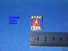 Star Trek Original Series Logo & USS Enterprise Insignia Blue Pin Badge STPIN05